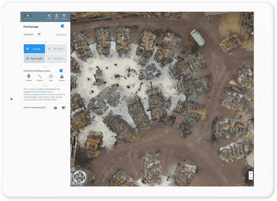 Live Map DroneDeploy - Live aerial maps